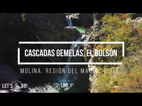Video Aéreo (Drone) en Cascadas Gemelas, El Bolsón, Molina, Región del Maule, Chile.