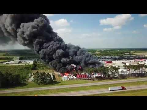 Duson Chemical Fire drone video – COURTESY BRANDON CHAMPAGNE