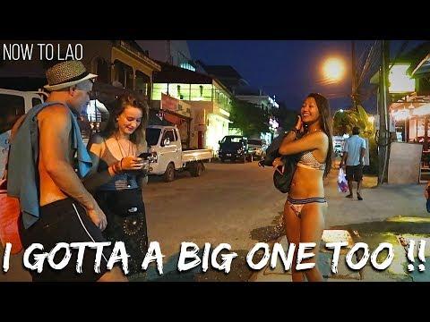 Travel Laos: Walking Street Vang Vieng Night Market – VangVieng Drone Video – Now to Lao travel vlog