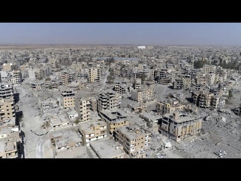 Syria: devastation in former Isis stronghold revealed – drone video