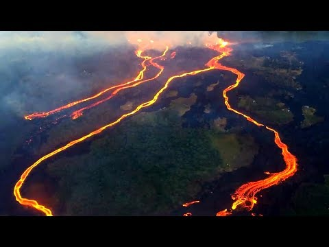 Drone Footage of Hawaiian Lava River (May 23, 2018)