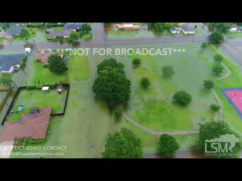 6 19 18 Port Arthur Flash Flood Event Aerial Drone Video And On The Ground Clips In 4K