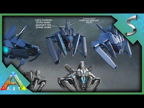 ARK EXTINCTION DLC CREATURES + NEW ITEMS! ENFORCER DRONE, SCOUT DRONE, GASBAG & FROST TITAN!