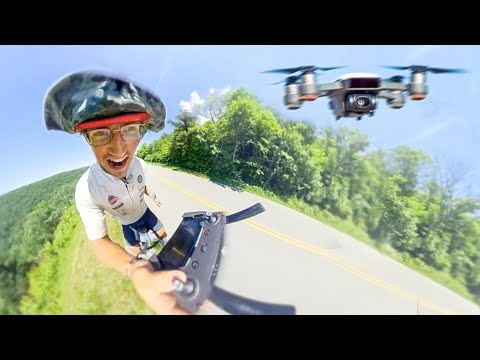 I BOUGHT A DRONE! – Flying DJI Spark WHILE cycling!
