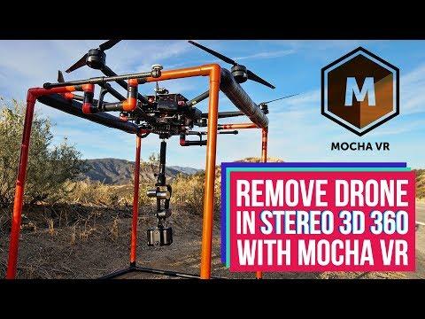 Remove Drone in Stereoscopic 3D 360 video with Mocha VR