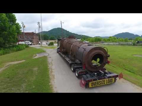 Nickel Plate Road 587 Arrives at Ravenna, KY (Drone Video)