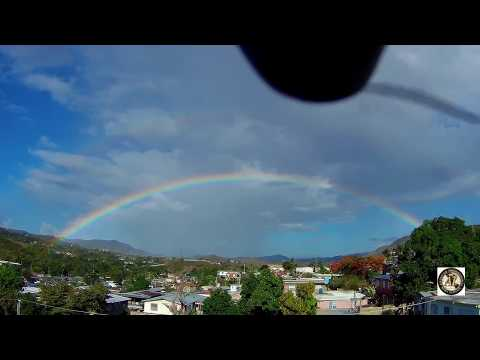 Drone rainbow video, Coamo, Puerto Rico