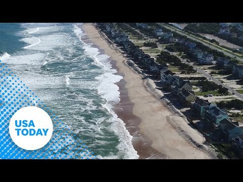 Hurricane Florence: Drone footage shows barren beaches before storm