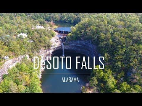 DeSoto Falls Alabama 4K Drone Video