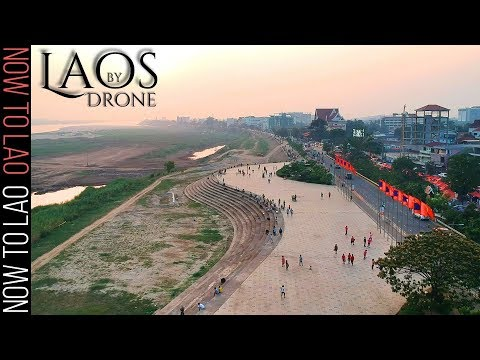 Travel Laos by Drone: Stunning Drone Video of Vientiane Night Markets and Vang Vieng-Now to Lao Vlog