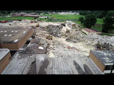 Drone Video: Southview demolition