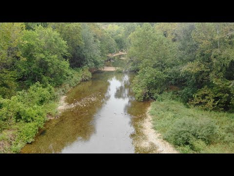 Owner Financed 46 acres ON RIVER by Springfield, MO – Short Drone Video – ID#FR46
