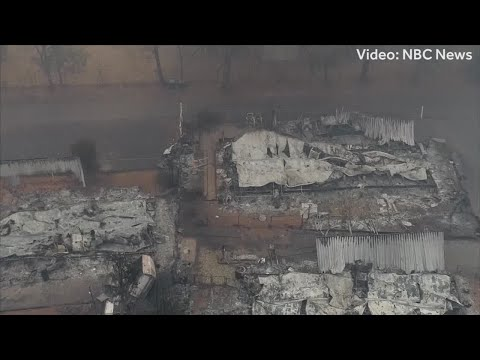 Drone video shows wildfire devastation in Paradise