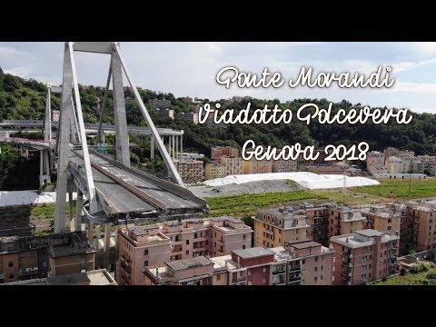Ponte Morandi. Viadotto Polcevera. Genova – Italy 2018. Drone Video.