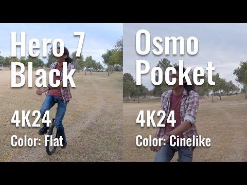 Osmo Pocket vs Hero 7 Stabilization Test