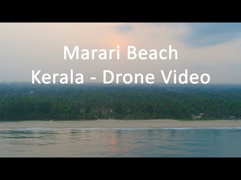 Marari Beach Kerala Drone Video