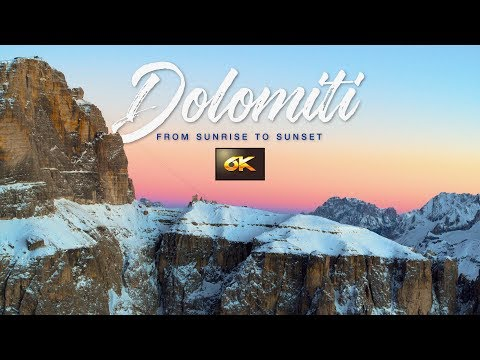 Dolomiti: From Sunrise To Sunset. A 6K Ultra HD Aerial Drone Video
