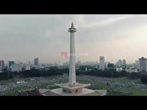 Full Drone View   Video Reuni Akbar 212 Di Monas
