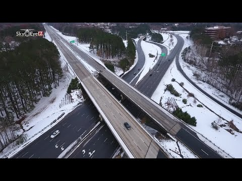 DRONE VIDEO:Snow at US 64 and US 1