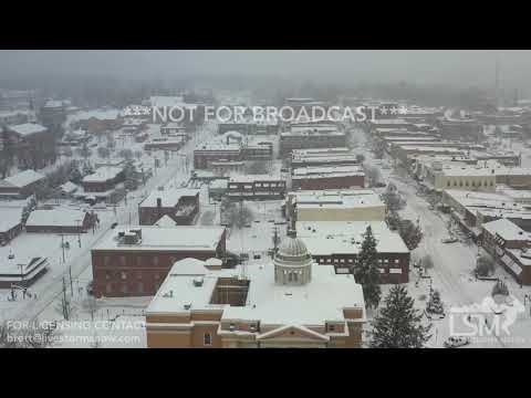 12-9-2018 Hendersonville, NC Before and after drone video of epic snow event