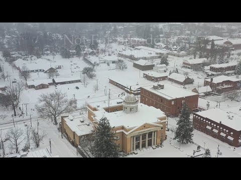 Before and after drone video of epic snow event – Hendersonville, NC – 12/9/2018