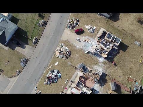 Drone Video: Tornado damage in Van Buren