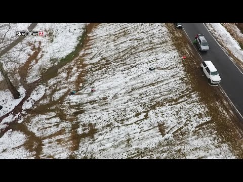 DRONE VIDEO: Sledding at McGregor Downs