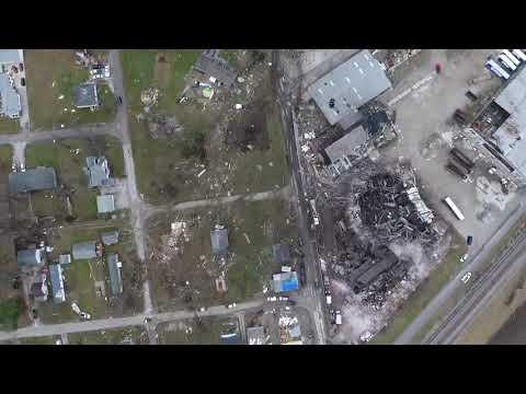 Drone video of Taylorville tornado