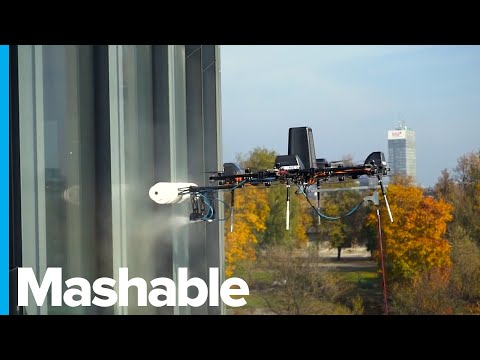 This Drone Is Cleaning Windows 1,100 Feet Above the Ground