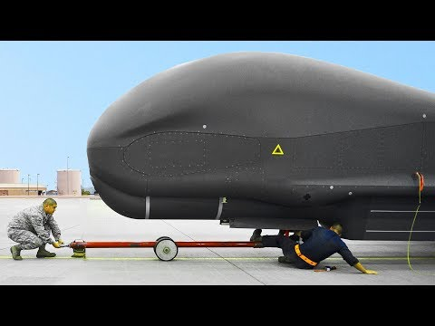 The US Built the World Largest Drone: RQ-4 Global Hawk in Action + MQ-1 and MQ-8B UAV