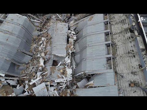 Drone video: Inside the demolished Bradley Center