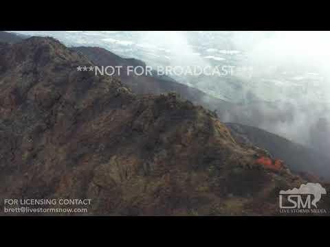 1-15-2019 Aguora Hills, Ca Drone video of Woosley burn scar, how debris flows and mudslides start