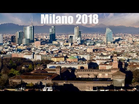 The Skyline of Milan Italy   Aerial 4k UHD Cinematic drone Video