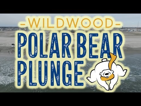 Wildwood Polar Bear Plunge 2019   Drone Video
