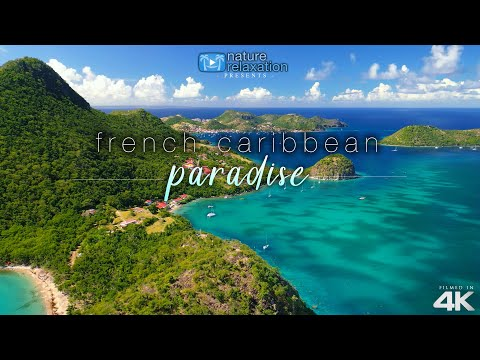 4K Drone Video & Relaxing Guitar Music + Ocean Sounds: Caribbean Island Paradise Nature Relaxation™!
