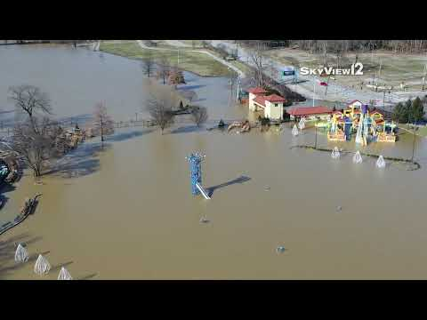 Drone video: Flooding at Coney Island