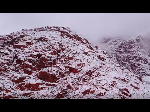 DRONE VIDEO: Snowy day at Red Rock