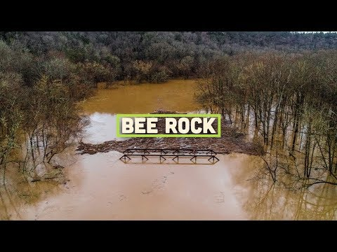 Bee Rock Flooding Drone Video