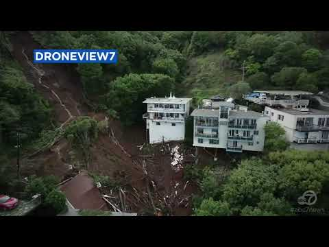 Drone video shows aftermath of Sausalito mudslide