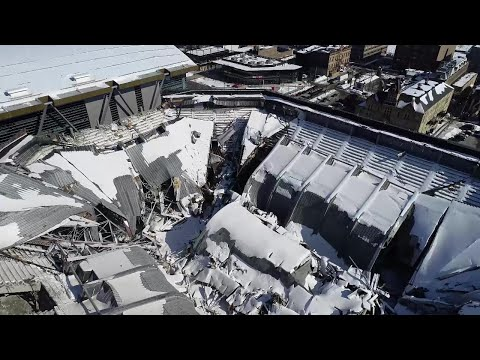 Drone video – Bradley Center demo is progressing