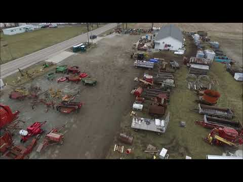 DRONE VIDEO 2019 NEW SALEM,  INDIANA LIONS CLUB CONSIGNMENT FARM MACHINERY AUCTION VIDEO