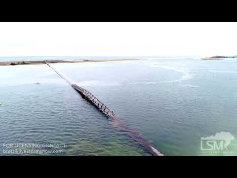 03-22-19 Sandwich, MA – Drone Video – Coastal Flood Advisory- Boardwalk Underwater