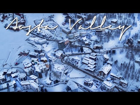 Valle d'Aosta – The Aosta Valley in Italy – 4K Aerial Drone Video