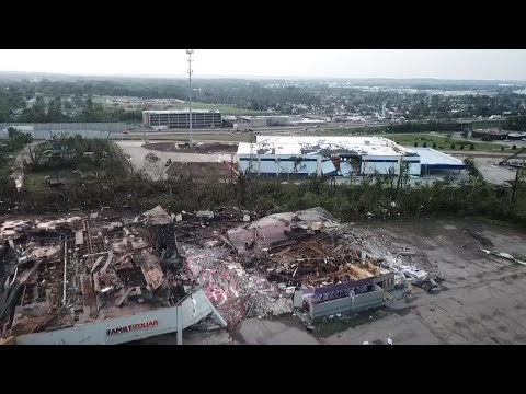 DRONE VIDEO: Storm damage on North Dixie in Dayton
