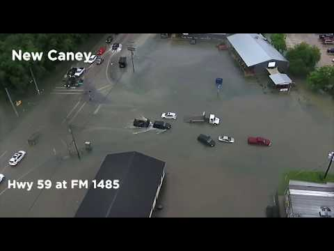 Drone Video of Heavy Flooding in New Caney | May 8, 2018