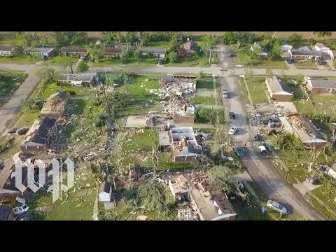 Drone video shows devastation in tornado-wrecked Ohio