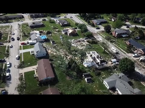 WATCH: Drone video of Celina tornado damage