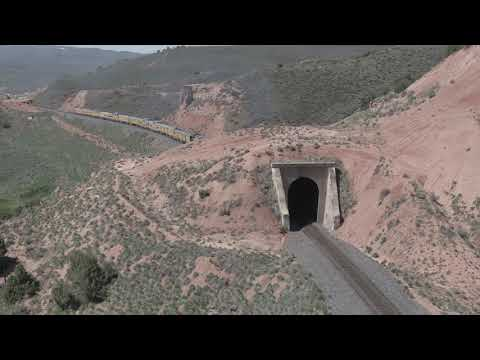 Raw / Unedited aerial (drone) video of the UP 4014 making its way up the Wasatch Grade