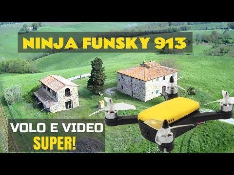 DRONE Ninja FUNSKY  913,  Volo e Video inaspettati