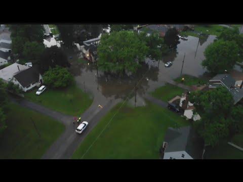 WATCH: Drone video shows flooding in Boardman